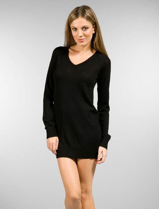 LA Made Ricki V Neck Sweater Dress