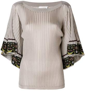 Chloé flared sleeved fitted blouse