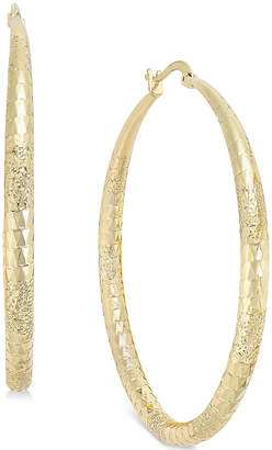 "Thalia Sodi Extra Large 2.3"" Diamond Cut Hoop Earrings"