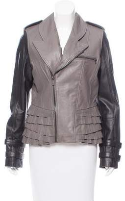William Rast Tiered Leather Jacket w/ Tags