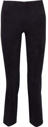 Vince Cropped Suede Straight-Leg Pants