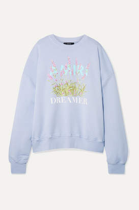 Amiri Oversized Printed Cotton-jersey Sweatshirt - Blue