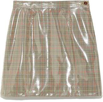 Lily Brown (リリー ブラウン) - Lily Brown ビニールボンディング台形スカート