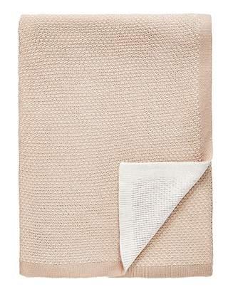 Marisota Luxury Jacquard Knit Natural Throw