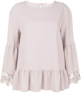 See by Chloe lace embroidered blouse