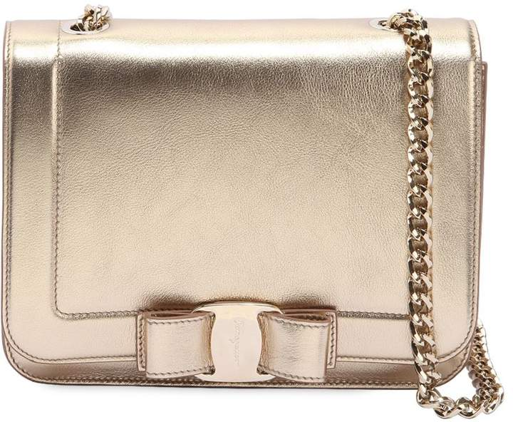 Small Vara Rainbow Metallic Leather Bag