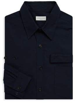 Dries Van Noten Long Sleeve Strap Cotton Shirt
