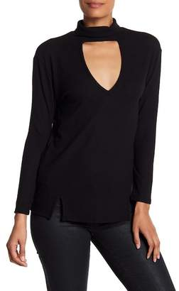 C&C California Kimmie Plunge Long Sleeve Mockneck