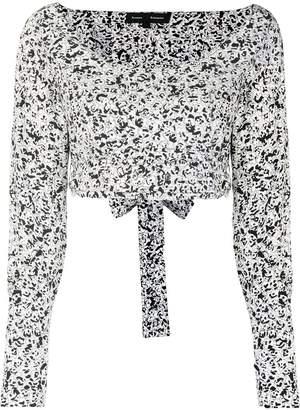 Proenza Schouler cropped wrap top
