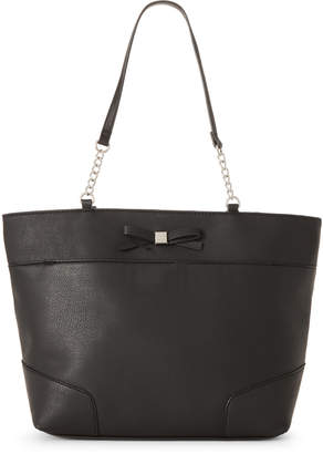 Nine West Black Cyra Bow Tote