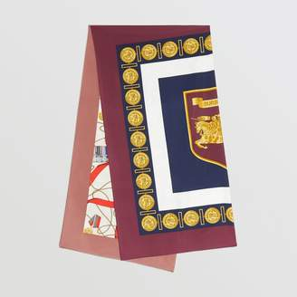 Burberry Archive Scarf Print Silk Oversized Scarf