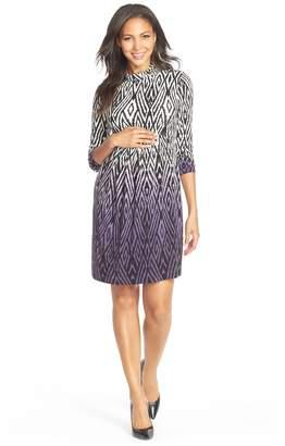 Tart Maternity 'Rhiannon' Turtleneck Fit & Flare Maternity Dress