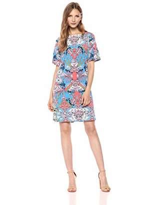 Chetta B Women's Short Slit Sleeve Shift Dress