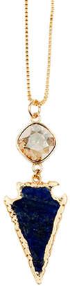 Isabella Collection Tropea Crystal & Gemstone Arrowhead Necklace
