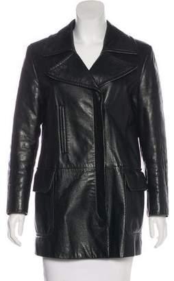 Versus Structured Leather Coat