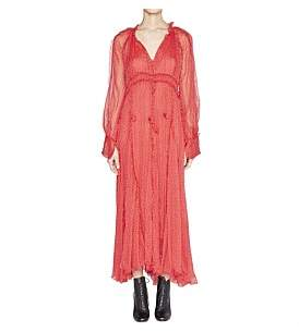 Ladybird Lee Mathews Silk Long Sleeve Godet Dress With Slip