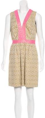 Milly Metallic Jacquard Dress