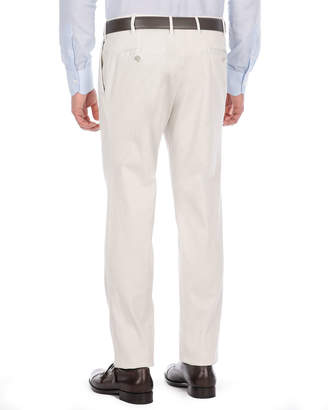 Isaia Flat-Front Twill Trousers