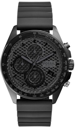 Fossil 'Sport 54' Chronograph Silicone Strap Watch, 44Mm $155 thestylecure.com