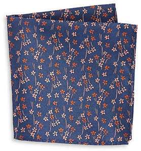 1670 Floral Pocket Square