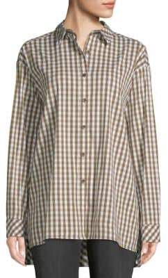 Lafayette 148 New York Jessie Boyfriend-Fit Gingham Shirt