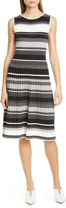 Kate Spade Stripe Knit Pleated Dress