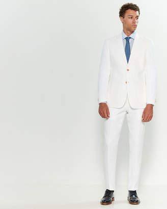 Michael Kors White Two-Piece Linen Oxford Suit