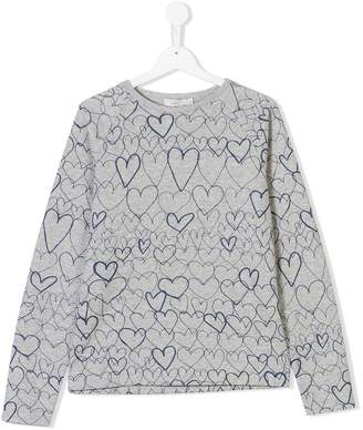 Stella McCartney TEEN heart printed sweater