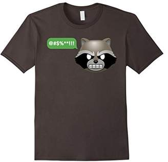Marvel Rocket Raccoon @#$!! Angry Emoji Graphic T-Shirt