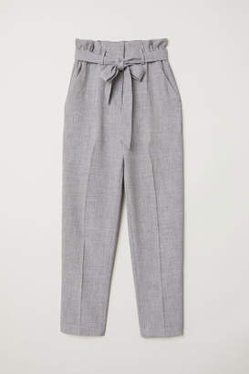 H&M Paper-bag Pants - Gray