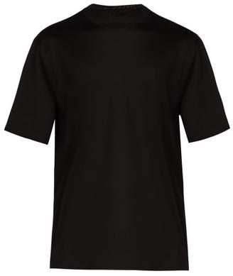 Lanvin Logo Printed Cotton T Shirt - Mens - Black