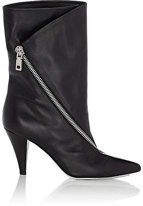 Givenchy Women's Asymmetric-Zip Leather Ankle Boots - Black