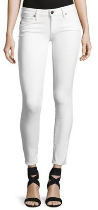 True Religion Casey Low-Rise Super-Skinny Jeans, Optic White $179 thestylecure.com
