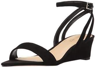 Nine West Women's NWLEWER Platform Sandals, (Black CU)
