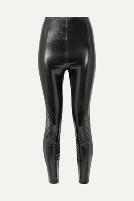 Lisa Marie Fernandez Karlie Stretch-pvc Leggings - Black