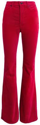 Rag & Bone Bella Red Velvet Flare Pants