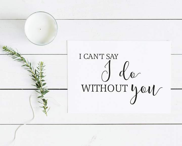 Etsy I can't say I do with you Greeting Card - Wedding Card - Gift for Her - Bridesmaid Notecard - Maid o