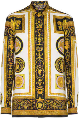 Versace Silk Cornici Print Shirt