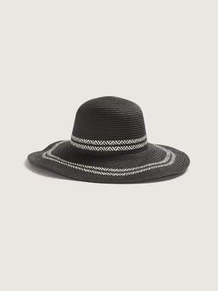 Canadian Hat - Black Straw Hat