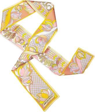 Emilio Pucci Printed Silk Bandana Necktie