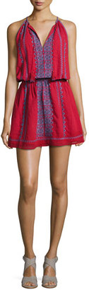 Joie Picard Embroidered Sleeveless Blouson Dress, Red $298 thestylecure.com