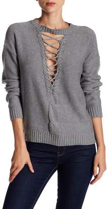 Do & Be Do + Be Lace-Up Front Sweater