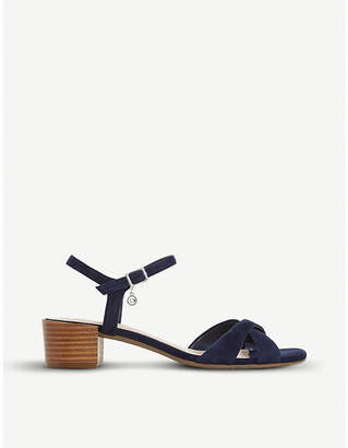 Dune Jazzy block-heeled leather sandals