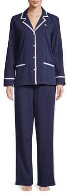 Lauren Ralph Lauren Two-Piece Notch Collar Pyjama Set