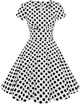 Dresstells reg; Retro 50s Solid Color Cocktail Prom Audery Swing Dress