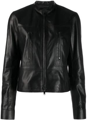 Valentino zipped leather jacket