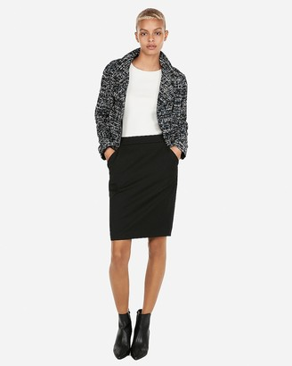 Express High Waisted Pleated Pocket Pencil Skirt