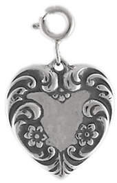 QVC Sterling Victorian-Style Heart Charm