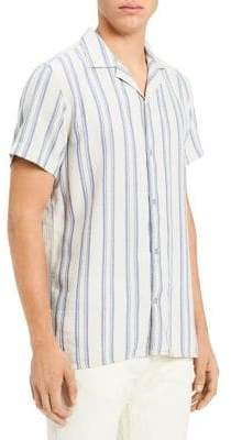 Calvin Klein Jeans Loose Twill Stripe Button-Down Shirt