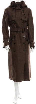 Derek Lam Wool Double-Breasted Trench Coat w/ Tags $1,075 thestylecure.com